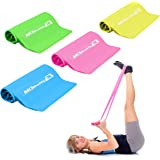 MDBuddy 4 Exercise Resistance Bands for Workout Stretching Home Fitness Physical Therapy Pilates Yoga Gym, Latex Free