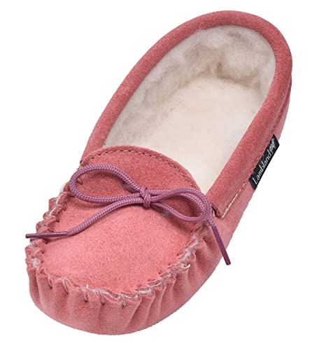 e8edd05b5fa6 Lambland Children s Wool Lined Moccasin Slippers  Amazon.co.uk ...