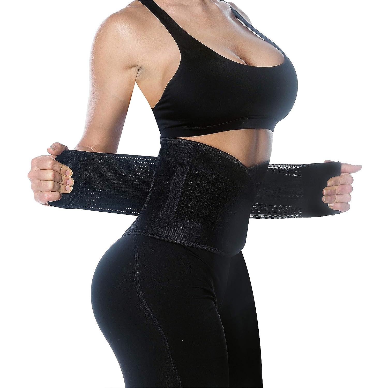 Fitt Up Waist Trainer Belt – Waist Trimmer – Slimming Body Belt – Body Sweat Wrap – Back Lumbar Support – Waist Shaper – Waist Cincher Trimmer
