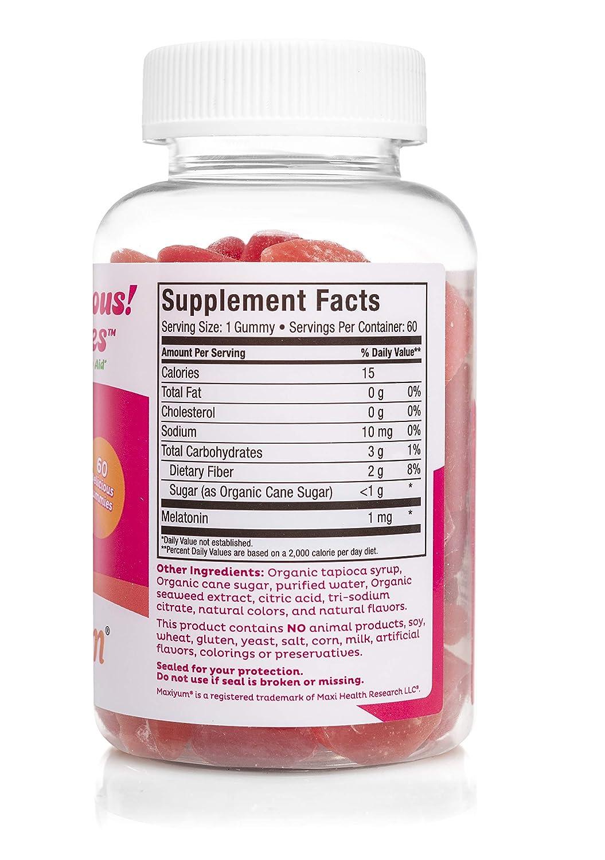 Amazon.com: Melatonin Gummies 1MG - Natural Sleep Aid for Children and Adults Great Tasting Natural Sweeteners Cherry & Orange Flavors (60 Chewables) ...