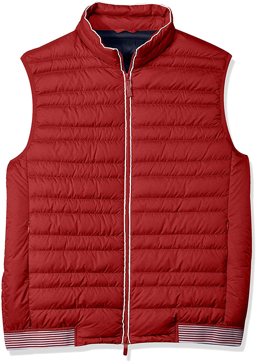 A|X Armani Exchange Men's Down Vest RED/Navy XX-Large 8NZQ41ZNW3Z