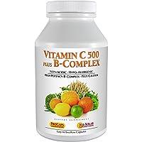 Andrew Lessman Vitamin C 500 Plus B-Complex 180 Capsules – Non-Acidic Vitamin C Plus Citrus Bioflavonoids for Immune System and Anti-Oxidant Support. Easy-to-Swallow Capsules. No Additives