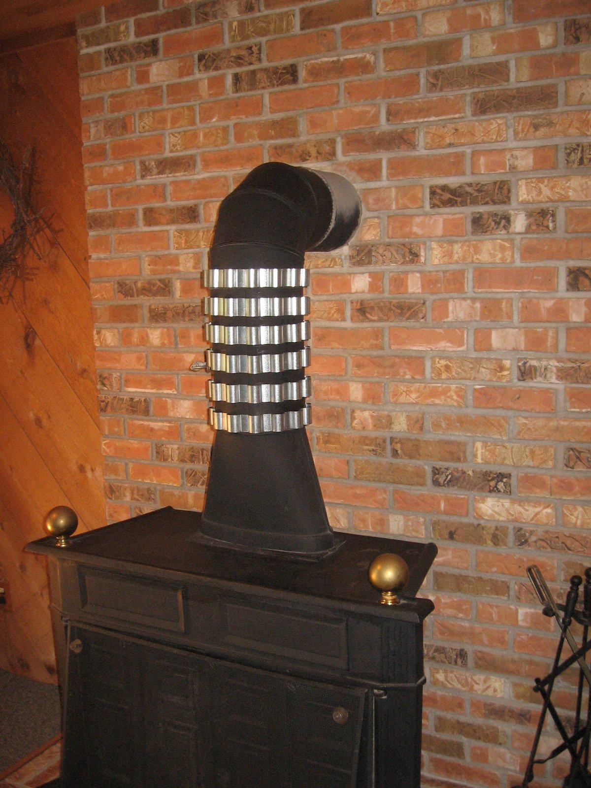 6 Stovepipe Heat Reclaimer / Radiators / Heat Exchangers 7 inch Dia stove pipe.