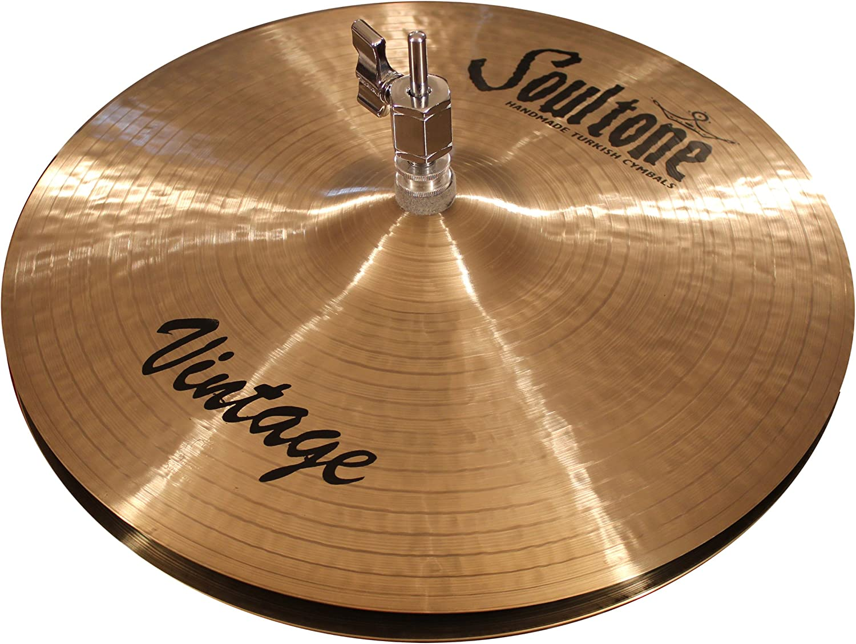Soultone Cymbals HVHMR-HHTT10-10 Heavy Hammered Hi Hat Top Only