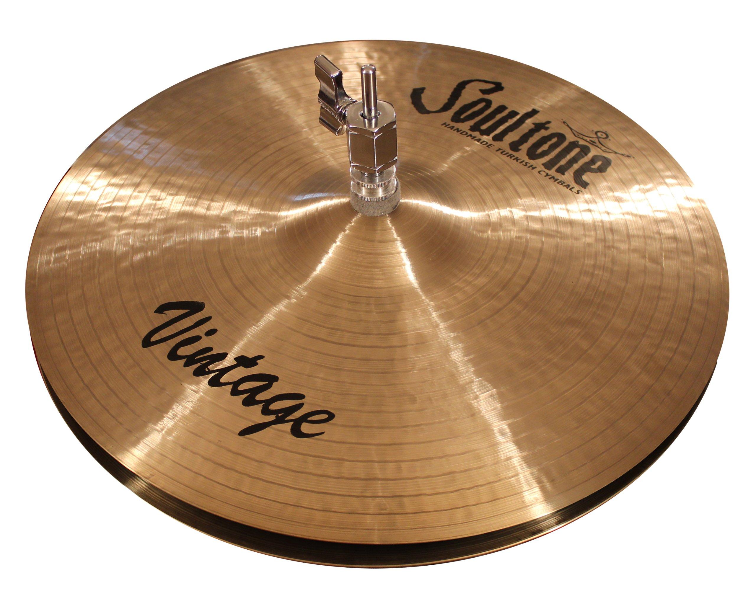 Soultone Cymbals VNT-HHT16-16'' Vintage Hi Hats Pair by Soultone Cymbals