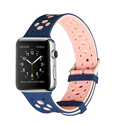 gersymi Apple Watch Correa Nike + Series 1 Series 2 Series 3, Deportivo Silicona Repuestos Sport Wristband correa de pulsera para iWatch Nike Sport ...