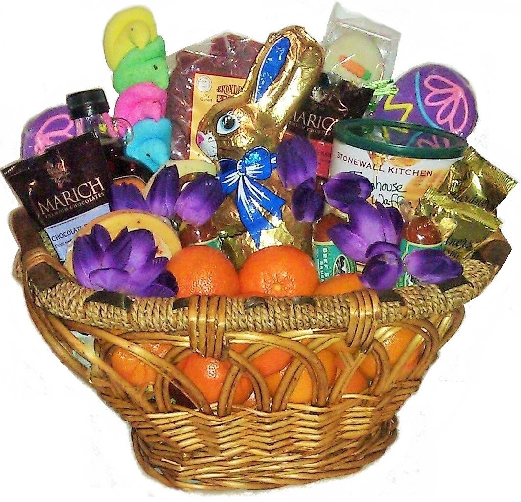 Easter Parade Breakfast, Fruit & Sweets Basket by Goldspan Gift Baskets