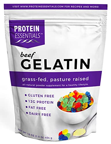 Protein Essentials Beef Gelatin Powder, Unflavored, Pasture-Raised, Grass Fed 16oz