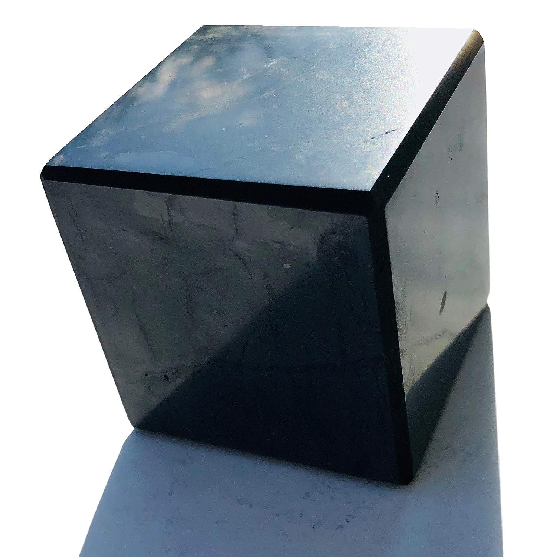 Schungit W/ürfel 3X 3cm poliert Heilstein russischer Schungit Schungitpyramide Edelsteinpyramide Schungite