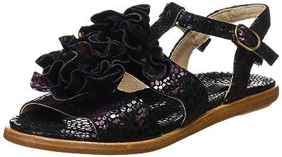 Neosens S943 Fantasy Aurora, T-Strap Sandals Femme, Noir (Floral Black), 40 EU