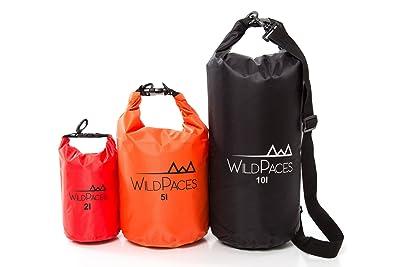 WildPaces - WATERPROOF FLOATING DRY BAG SET OF 3-10 Liter 5 Liter 2 Liter