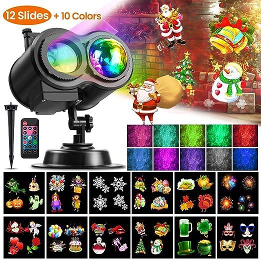 Amazon.com: Luces de proyector de Navidad, CAMTOA LED de ...