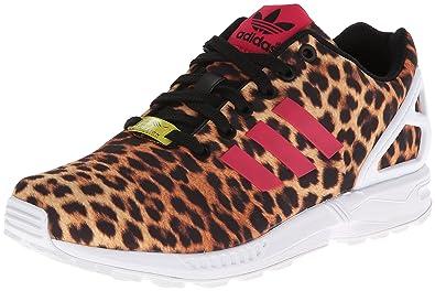 cfc4d28df099 Amazon.com | ZX Flux Womens in Black/Vivber (Leopard- Photo Print ...