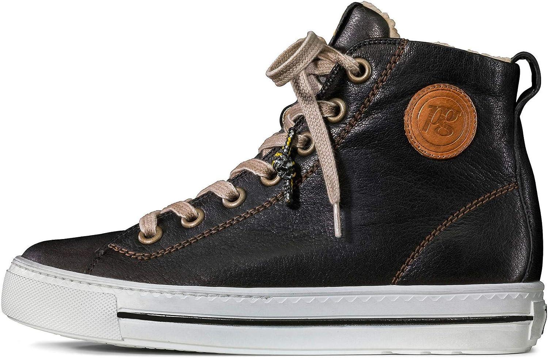 Paul Green 4842 Damessneakers Chwarz zwart ruw
