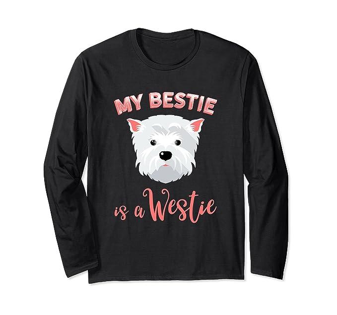 Unisex Westie Long Sleeve Tshirt Westie Gifts West Highland Terrier Small Black
