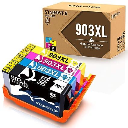 STAROVER 4x 903 XL 903XL Cartuchos De Tinta Compatible Para HP ...