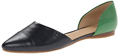 Tommy Hilfiger Women's Naree3 Ballet Flat, Marine/Emerald Green, 5 Medium US