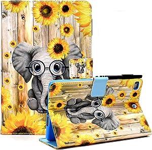 iPad 8th/7th Generation Case, iPad Air 3 Case, iPad Pro 10.5 Case, Leather Stand Folio Protective Case Cover with Auto Wake Sleep for iPad 10.2 2020 2019/iPad Air 2019/iPad Pro 10.5 -Elephant