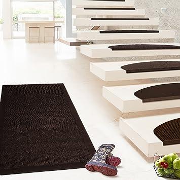 Floori - Alfombra de sisal, varios tamaños, también disponible como conjunto con moqueta para escaleras, color marrón oscuro: Amazon.es: Bricolaje y herramientas