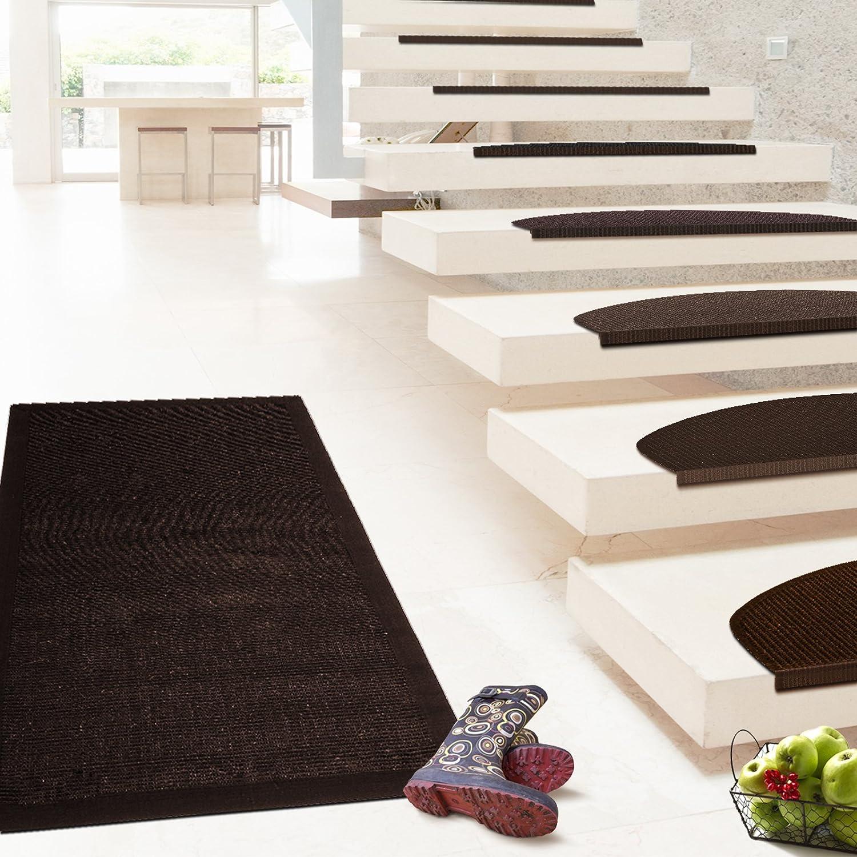 Floori Sisal Premium Teppich, div. Größen wählbar, dunkelbraun | auch als Set mit Stufenmatten Floordirekt