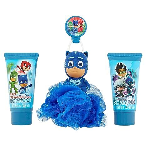 Amazon.com : PJ Masks Soap & Scrub Shampoo and Body Wash Bath Set : Beauty