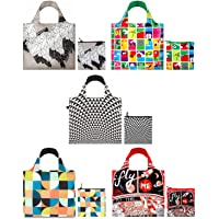 LOQI A71720c (Set of 5), Artists, Pen Art, Prism Circles Reusable Shopping Bags