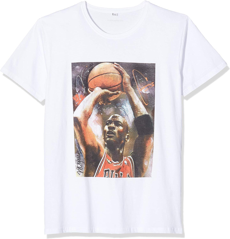 MERCHCODE Michael Basketball Camiseta Hombre: Amazon.es: Ropa y accesorios