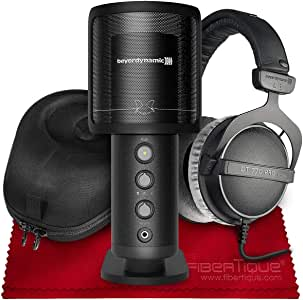 Beyerdynamic Fox Professional USB Studio Microphone with Beyerdynamic DT770 Pro 80 ohm Headphones and Accessory Bundle