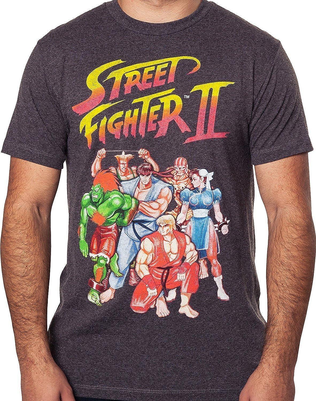 Street Fighter 2 Capcom Video Game Logo Adult T Shirt