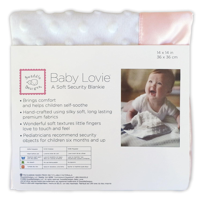 Kiwi SwaddleDesigns Baby Lovie Plush Dots Security Blankie with Color Trim