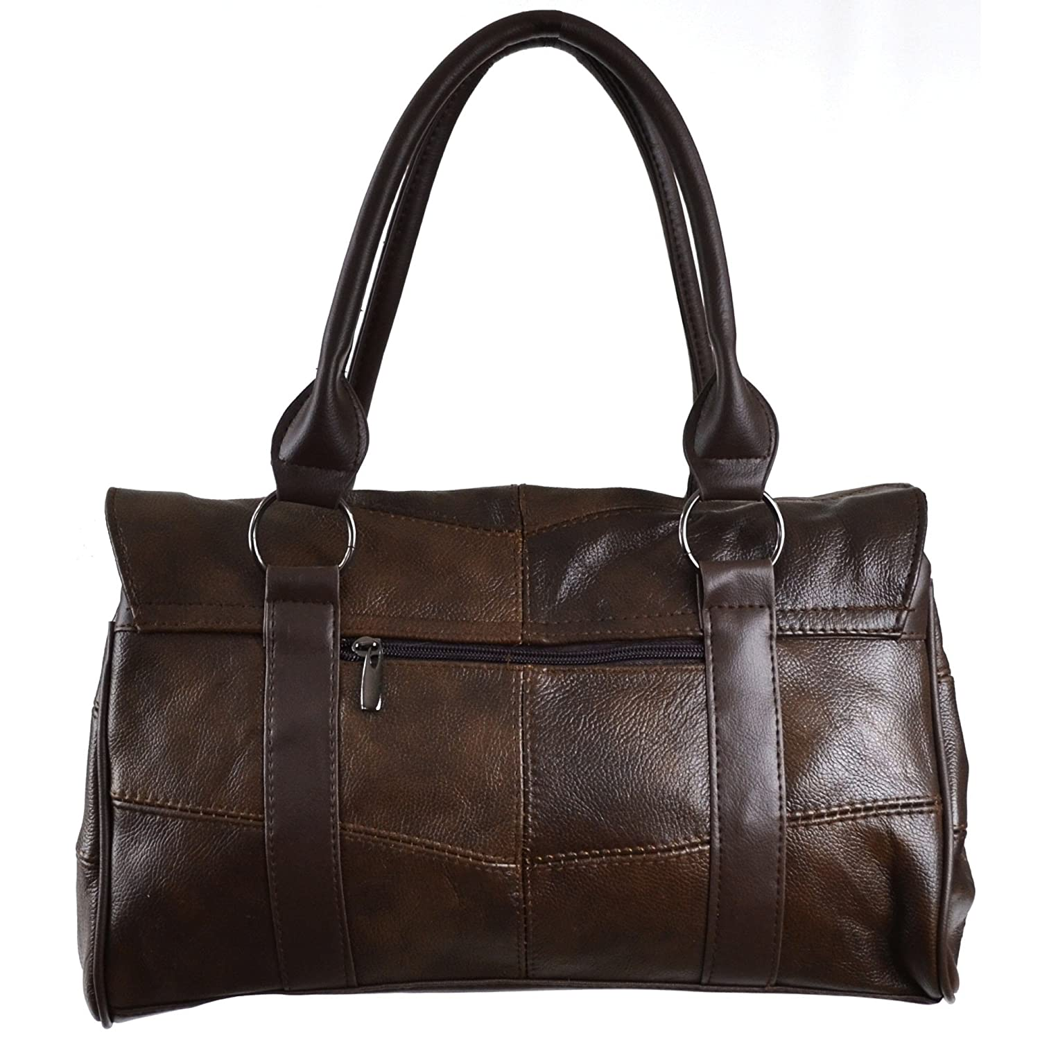 Black//Dark Brown//Fawn // Tan Ladies Leather Shoulder Bag//Handbag with Folder Over Flap and Magentic Clasp.