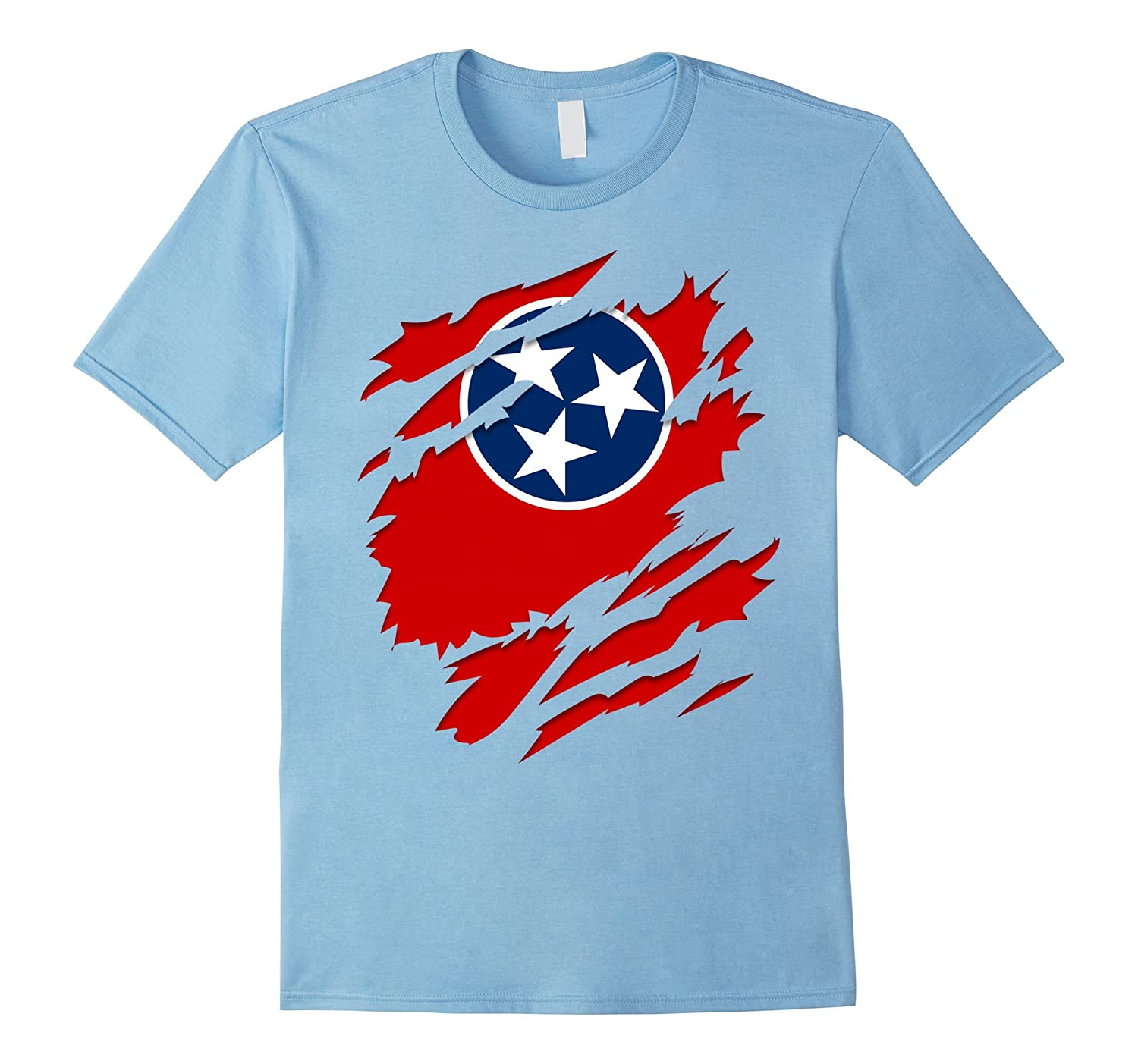 Tennessee Flag Ripped T-shirt Proud Tennessee Gifts Graphic-TJ