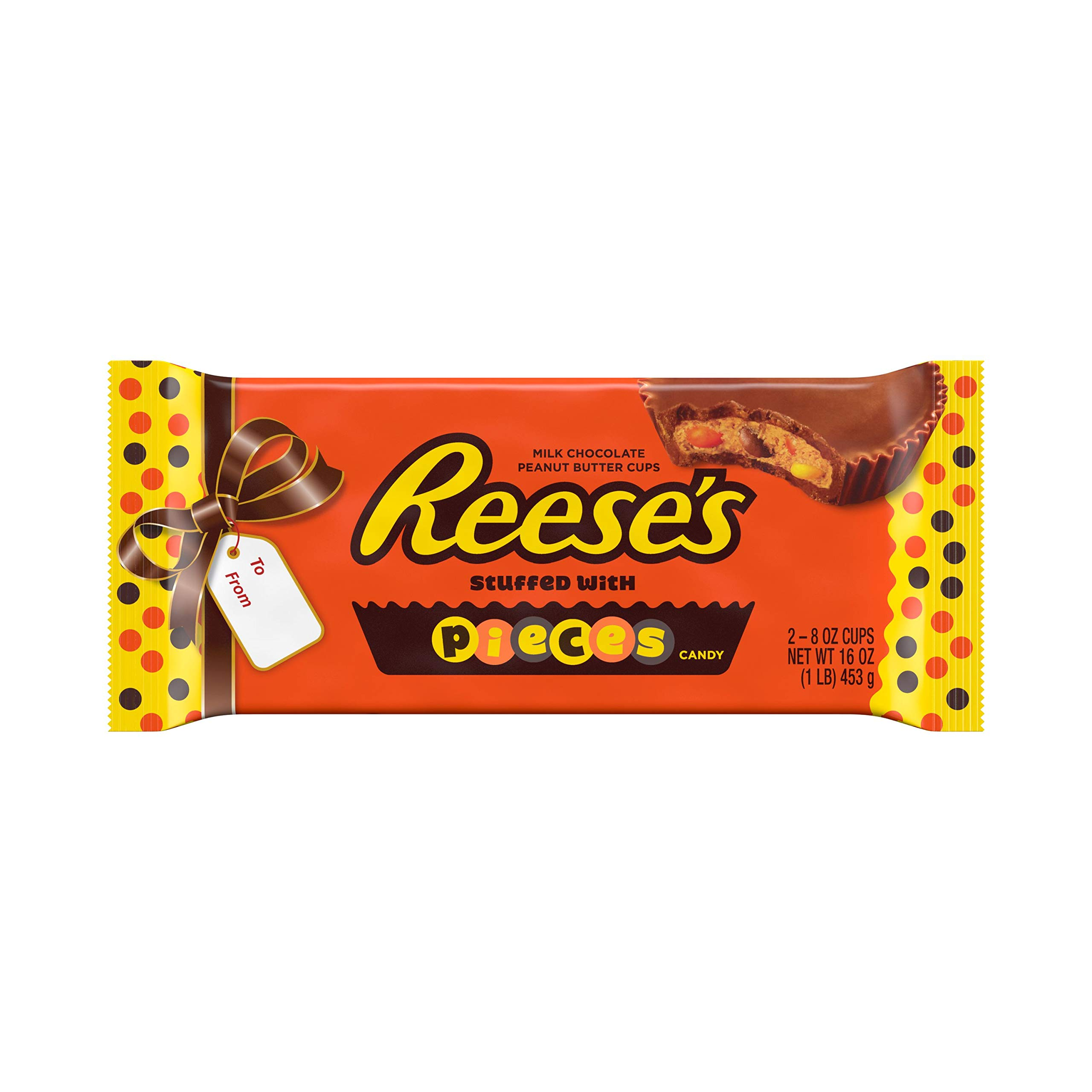 REESE'S Holiday Candy, Stuffed with Pieces Peanut Butter Cups 1 lb.
