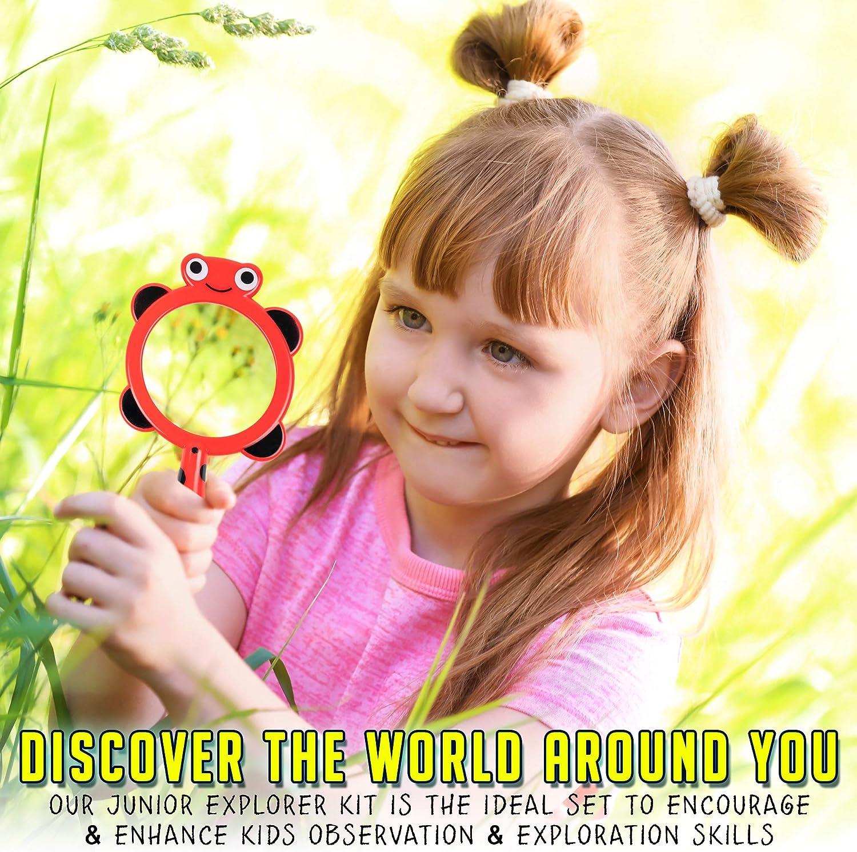 15 Pack Kit de Exploración para Niños con Binoculares Brújula Lupa Silbato - Educativos Aventuras Observacion - Juegos de Explorador, Juguetes para Muchachos Chicas Cámping Excursionismo: Amazon.es: Juguetes y juegos