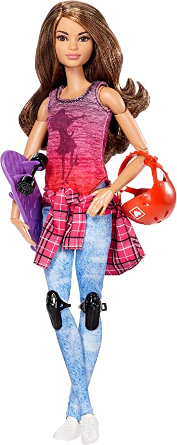 Barbie Made to Move Skateboarder, Dolls - Amazon Canada