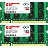 Komputerbay 4GBメモリ 2枚組 DDR2 533MHz PC2-4200 2GBX2  DUAL 200pin SODIMM ノート パソコン用 増設メモリ 4GB デュアル