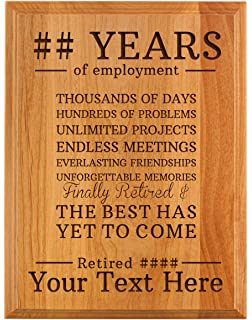 amazon com thanh 39 personalized gifts retirement plaque home