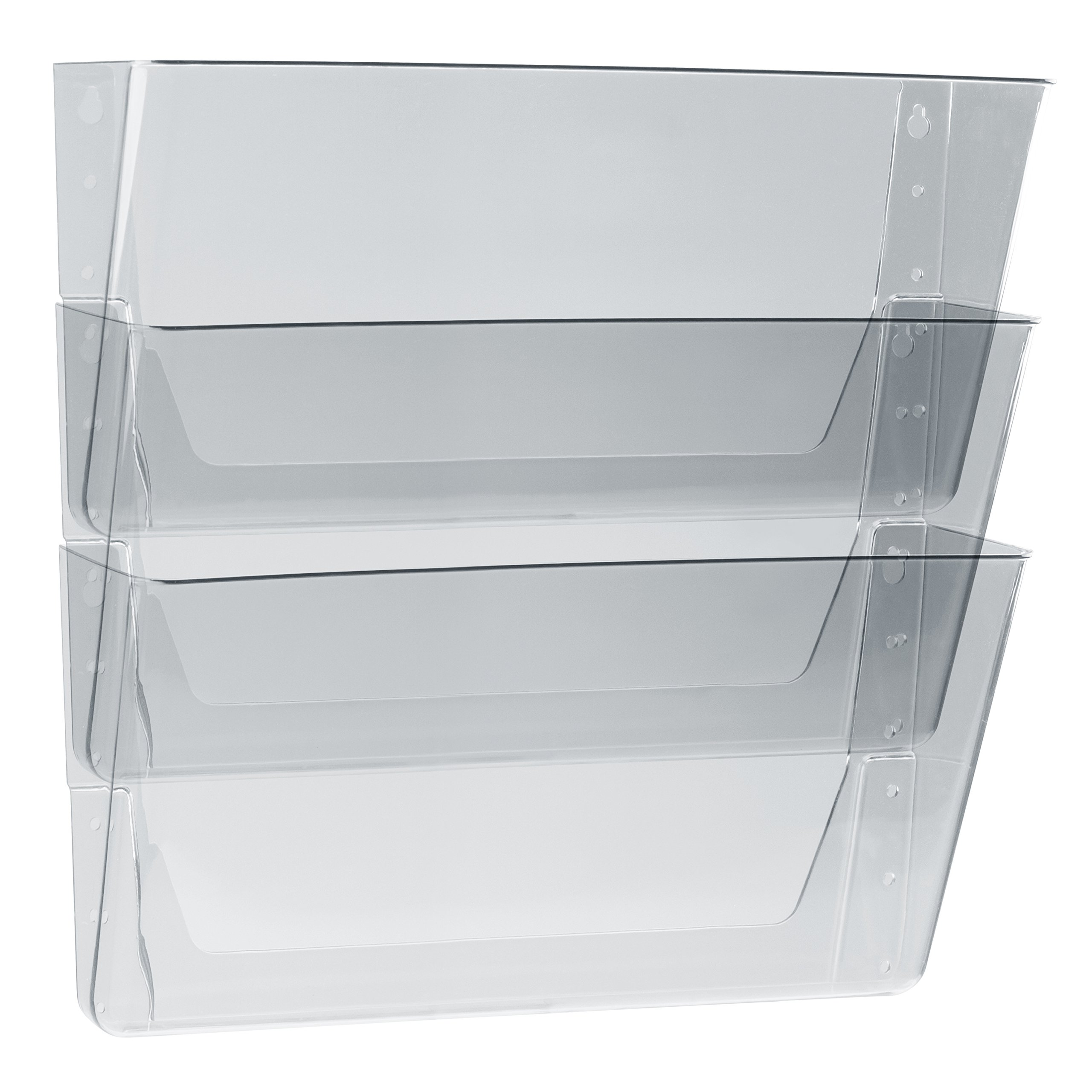 Storex Wall Files, 16 x 4 x 7 Inches, Legal, Clear, Case of 6 3-Packs (70229U06C)
