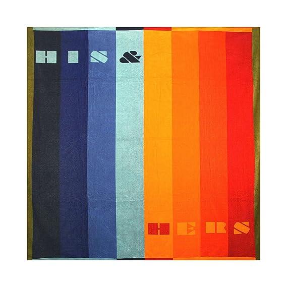 XXL Partner strandlaken 180 x 180 cm terciopelo Frottier playa toalla de baño de algodón 100% en varios modelos, algodón, Dessin 2, 180 x 180: Amazon.es: ...