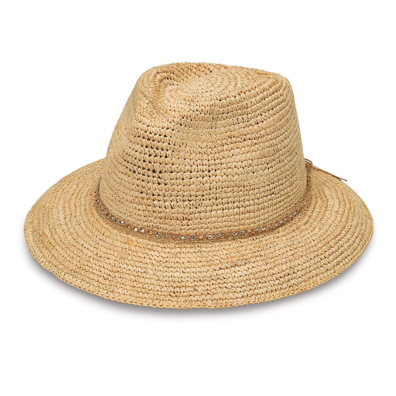 Wallaroo Hat Company Women's W Collection Malibu Sun Hat - Raffia, Natural