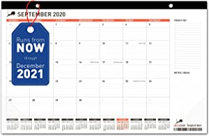 Desk Calendar 17x11 (17x12) - Monthly Planning Desk Pad & Wall Calendar for Home, School and Office - Superior Ink Bleed Resistance Thick Paper Desktop Calendar Planner