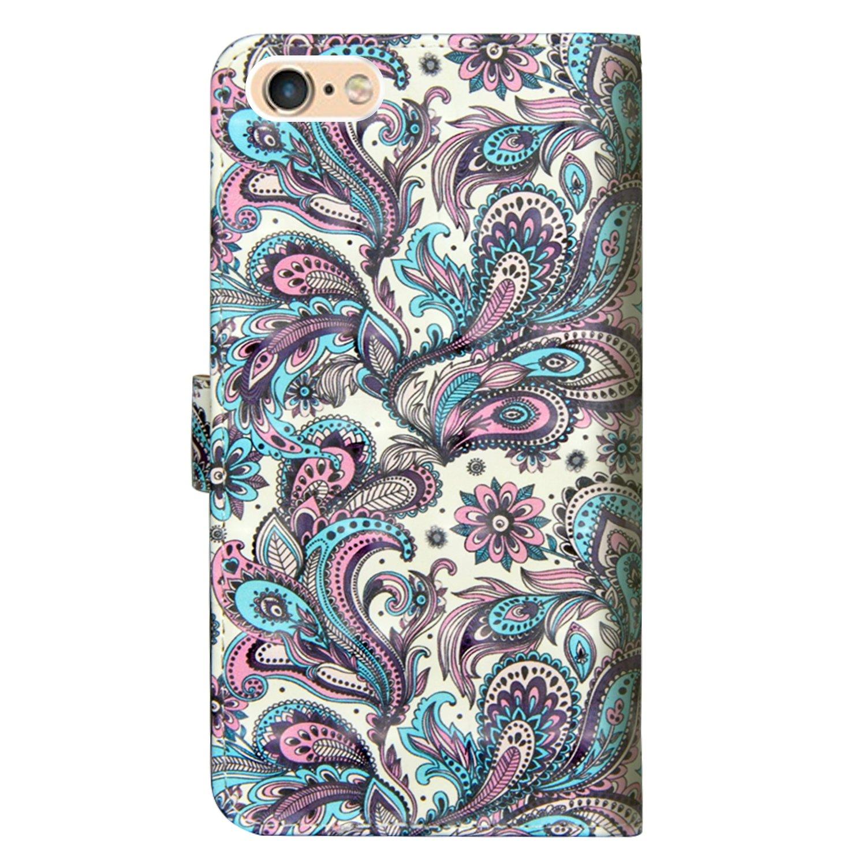 Brieftasche flip PU Leder ledercaseH/ülle Kartenf/ächer 3D Oberfl/äche TOUCASA iPhone 6S Handyh/ülle,iPhone 6 H/ülle Ultra Glatte Ber/ührung f/ür/iPhone 6S//iPhone 6-(Blauer Schmetterling)+Stylus/Pen