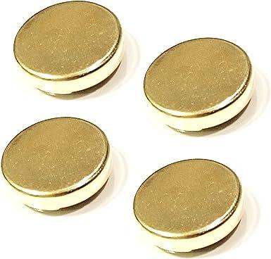 TAVERNIT 4 grandes oro botón cubre uso como Gemelos para camisas con botones 18 mm: Amazon.es: Ropa y accesorios
