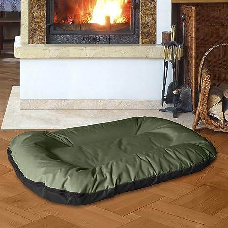 BedDog MASTI 2en1 verde/negro XXXL aprox. 120x105cm colchón para perro, 8 colores