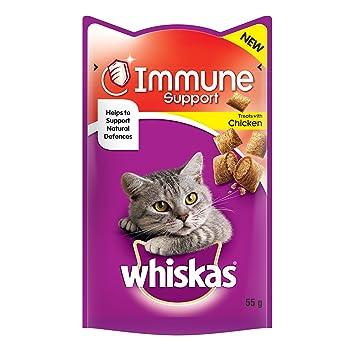 Whiskas SISTEMA INMUNITARIO Gato Chucherías 55g: Amazon.es: Productos para mascotas