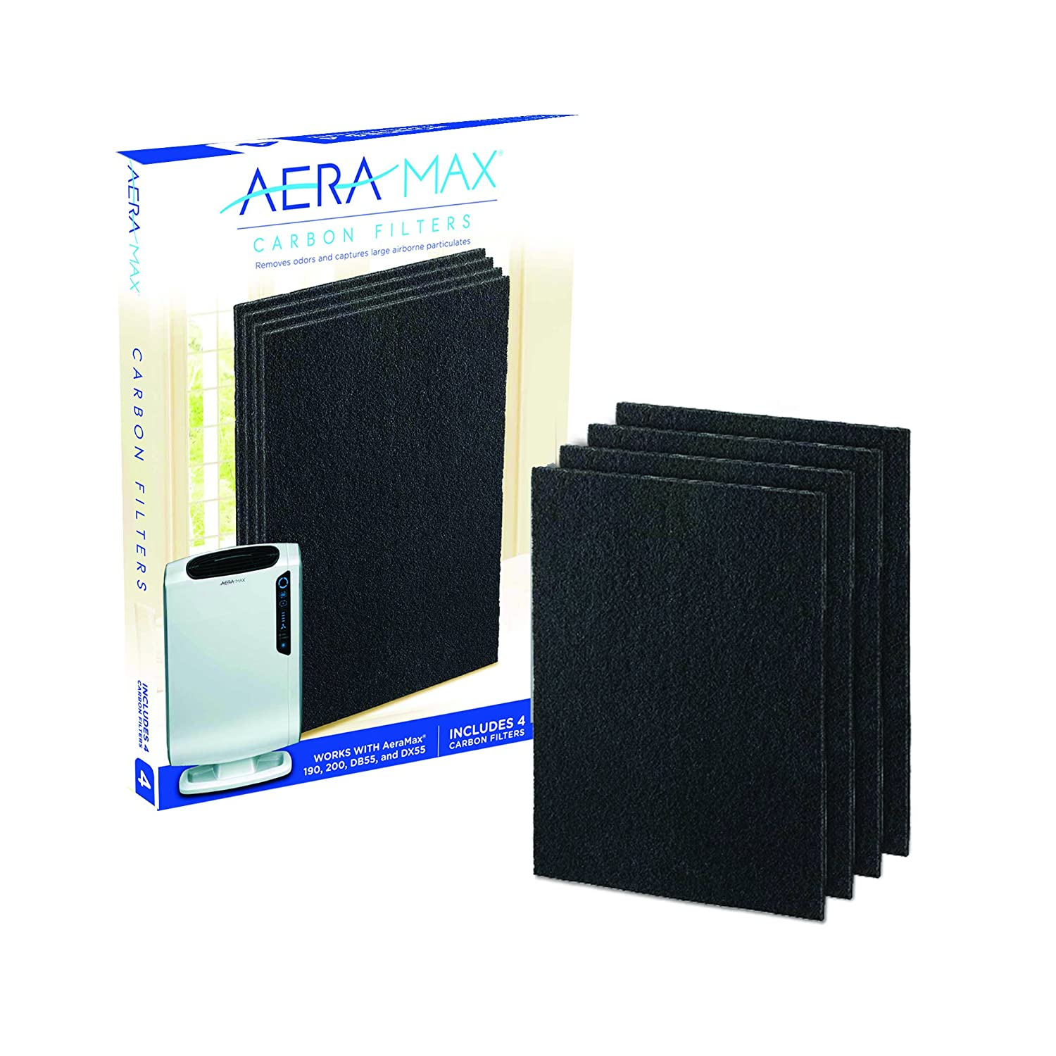 Fellowes 9324101 4-Pack Carbon Filter for AeraMax 200 Air Purifier