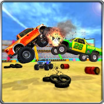 Monster truck demolition derby games