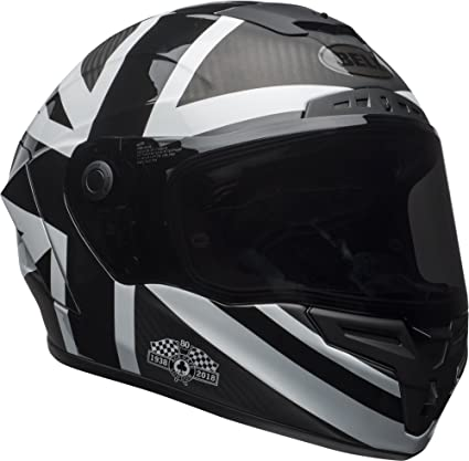 Bell Race Star Full-Face Motorcycle Helmet (Ace Cafe Blackjack Matte Black/White