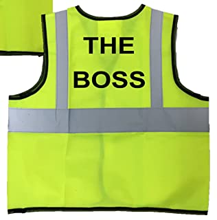 Childrens High Visibility Vests Waistcoat Jacket Hi Vis Safety Boss 3-9 Years (6-9 Years Child)
