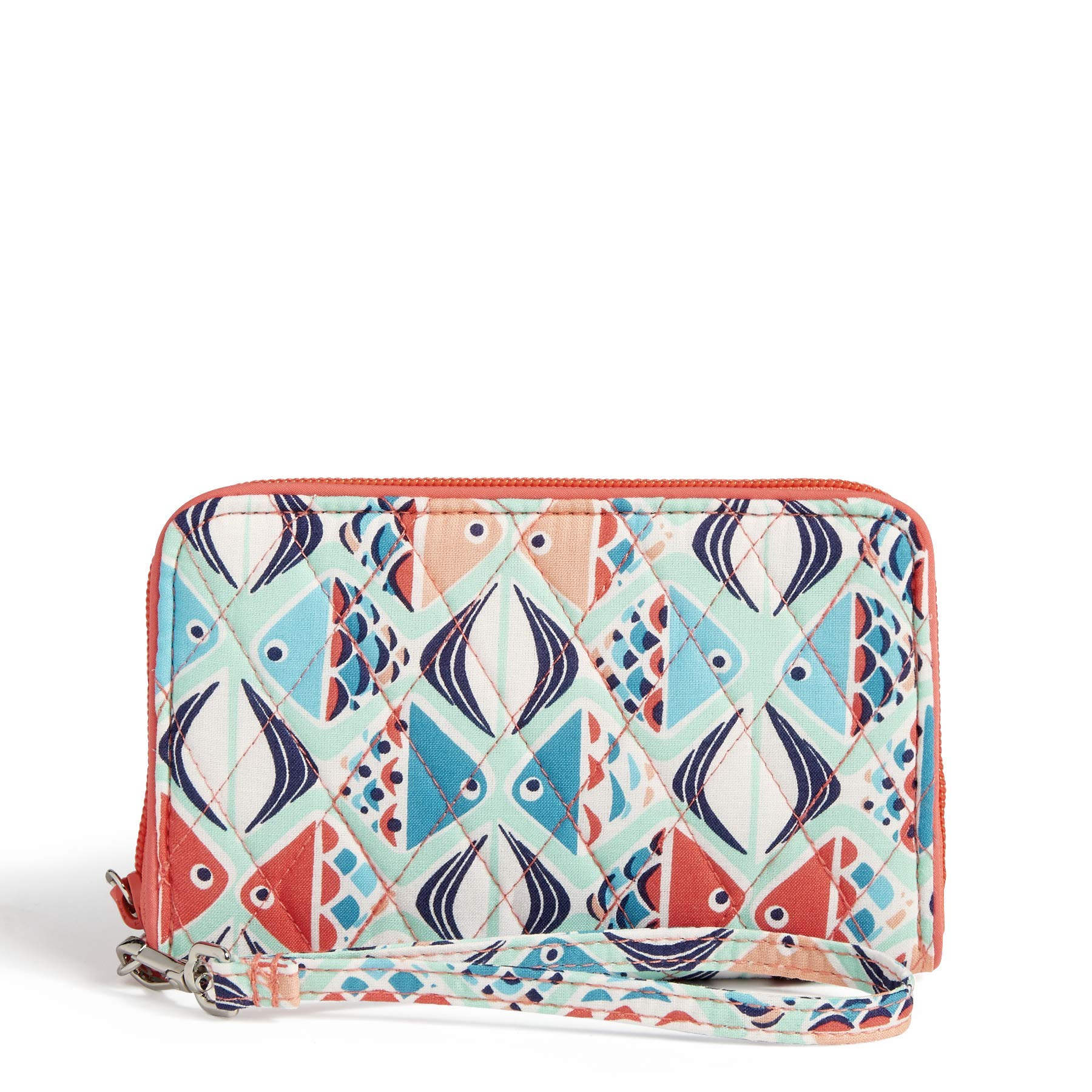 Vera Bradley RFID Grab & Go Wristlet, Signature Cotton, Go Fish